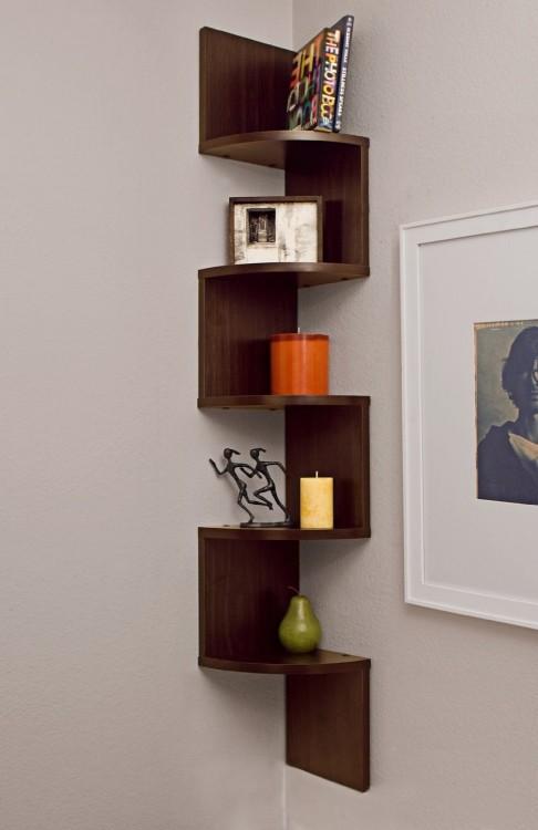 Corner Wall Mount Zig Zag Shelves