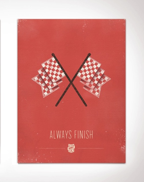 always finish design