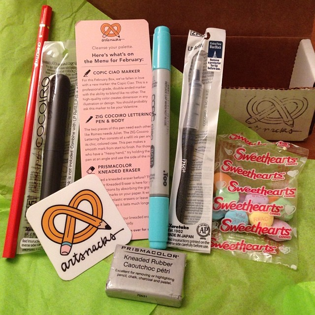 artsnacks monthly art box