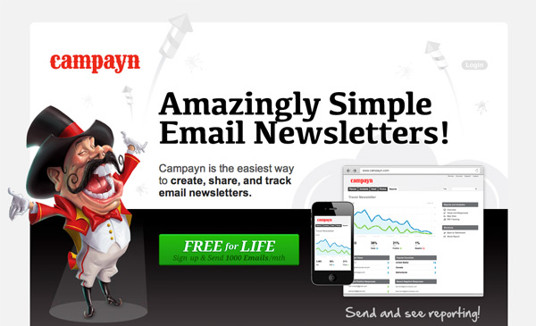 Campayn amazingly simply email newsletters