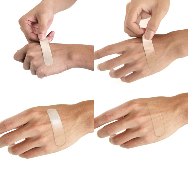 chameleon bandage blends with the skin to look invisible
