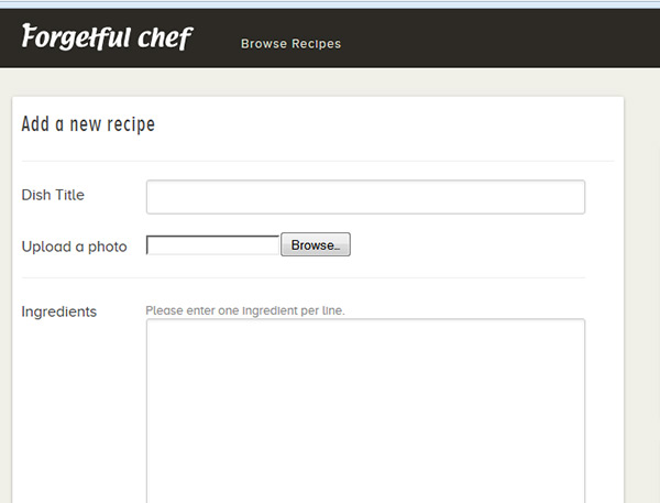 forgetful chef receipes
