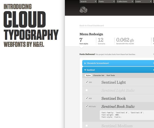cloud typography h&fj