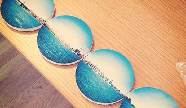 coastermatic prints your instagram photos onto coasters