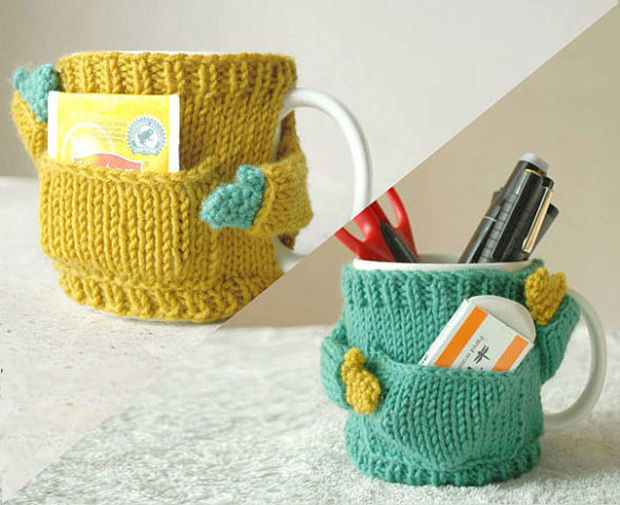 Knitting Pattern For Mug Sweater : Hand knitted sweaters for coffee mugs New Startups