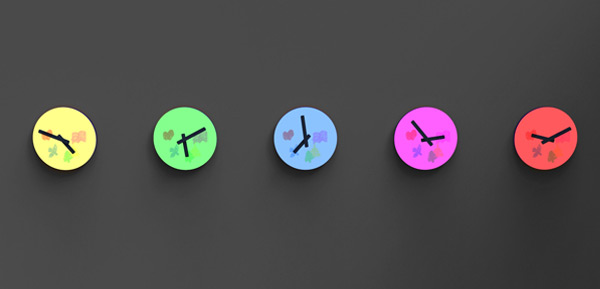 colour clock time
