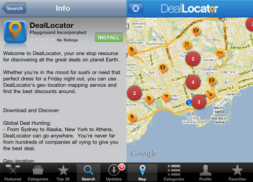 DealLocator on the IPhone