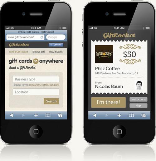 GiftRocket Mobile Website