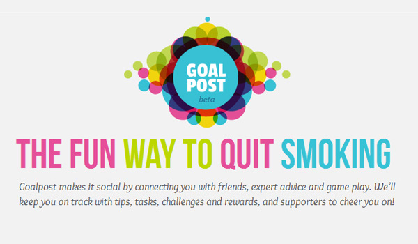 goalpost the social network to help you quit smoking