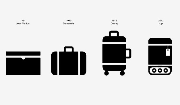 Hop: Luggage that follows you  around
