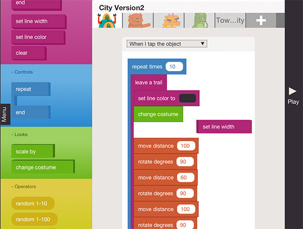Teaching kids coding with Hopscotch