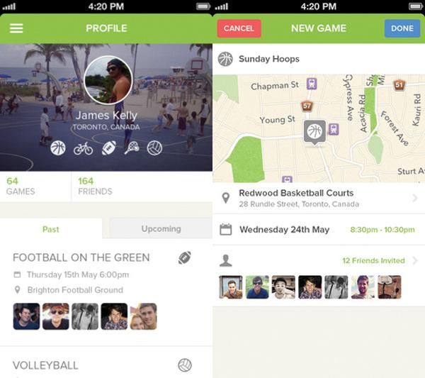 huddlers app interface