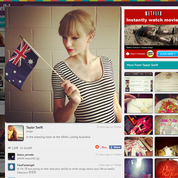 Celebrity instagram profiles