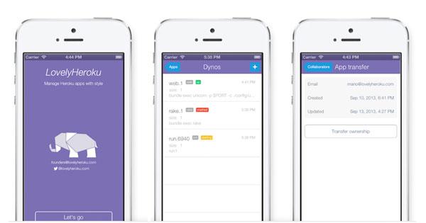 Flat app design done right for Heroku management | New Startups