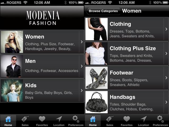 modenia interface
