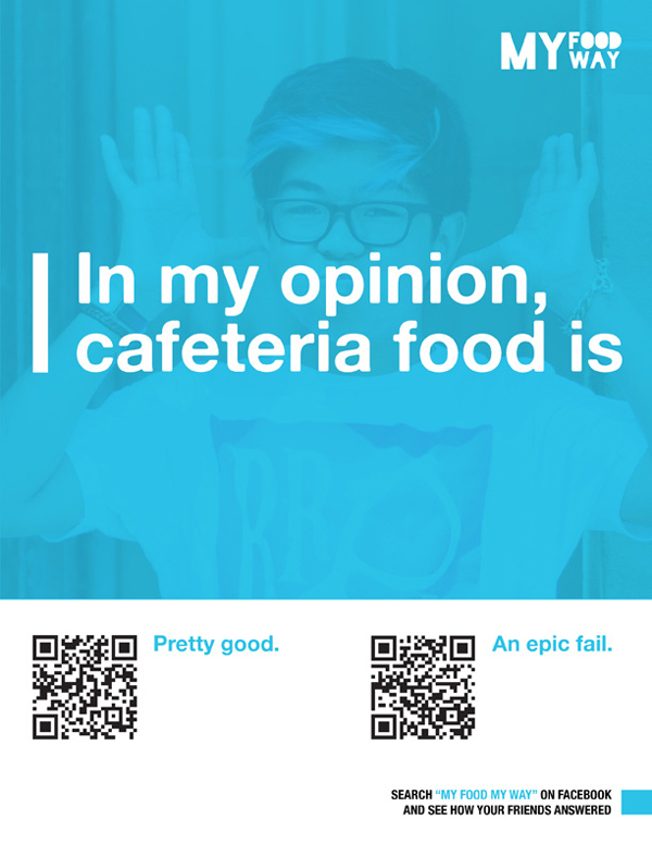 my food my way poster what do kids think of cafe food