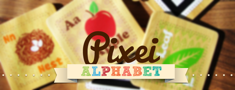 pixei alphabet