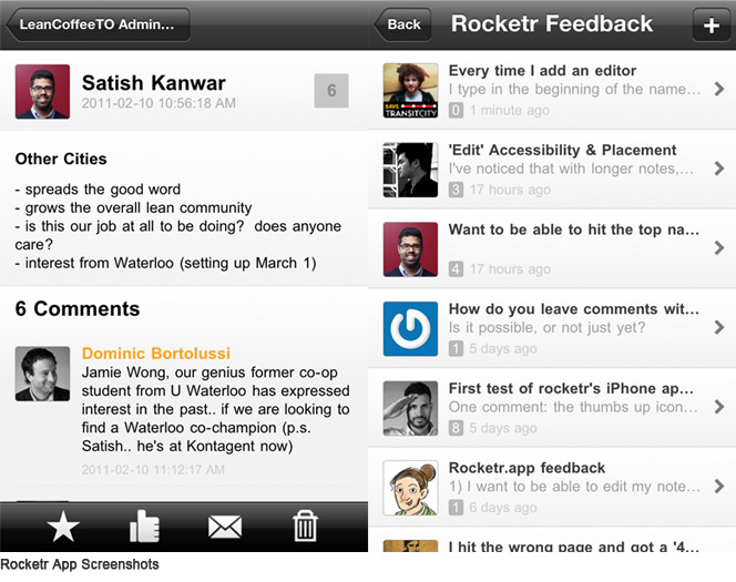 Rocketr Mobile App Screenshot