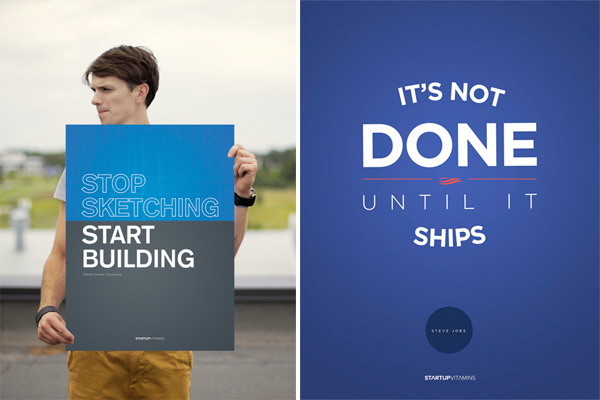 startup vitamins posters for startups