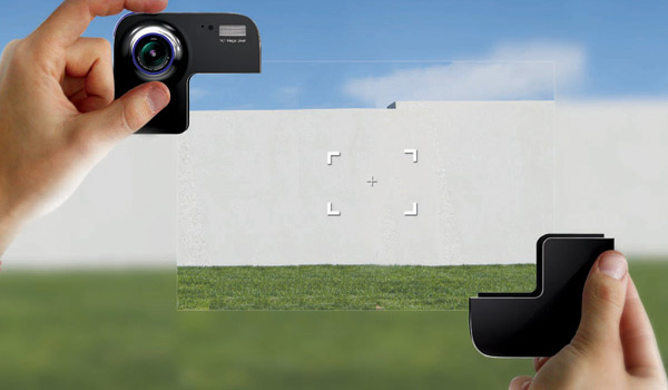 take frame camera lets you crop before snapping pictures with your hands