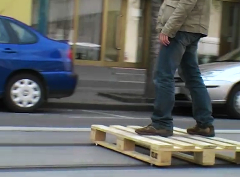 tomas-moravec-hacks-wooden-pallet-tram-tracks