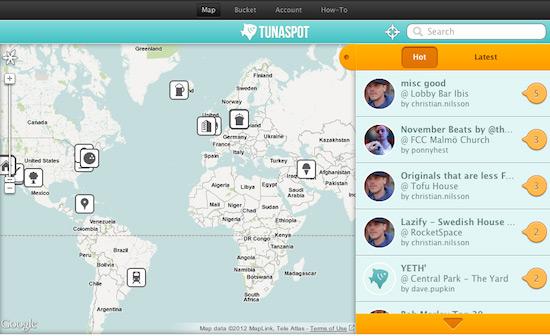 tunaspot spotify playlists by geolocation