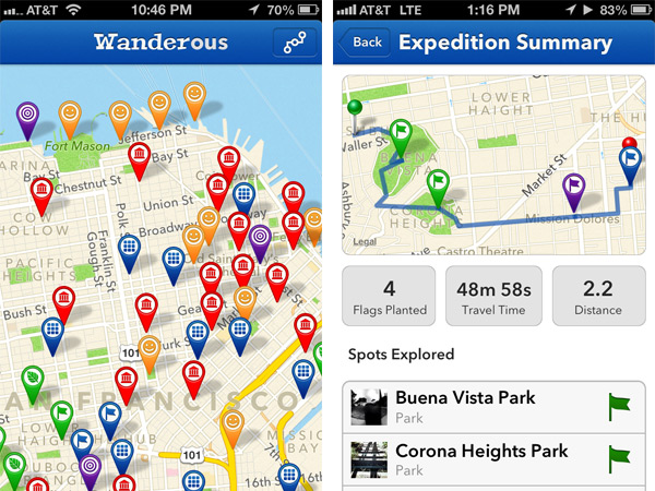wanderous iPhone app
